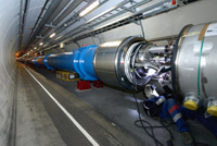 LHC atom smasher